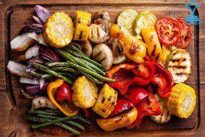 سبزی باربکیو سرخ کرده غذا tamrino.ir