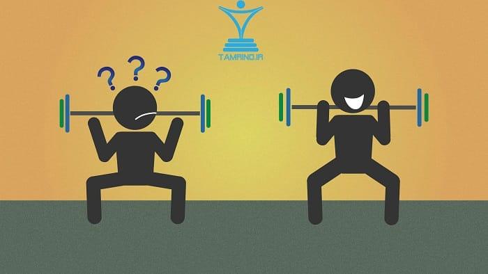 آهسته وزنه کردن