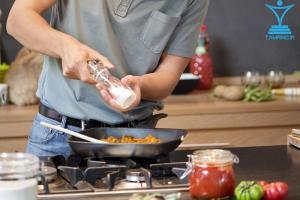 ید نمک آشپزخانه پخت و پز ماهی تابه سرخ کردنtamrino.ir
