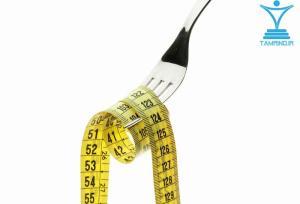چنگال و متر اندازه گیری هوشمند رژیم غذایی tamrino.ir