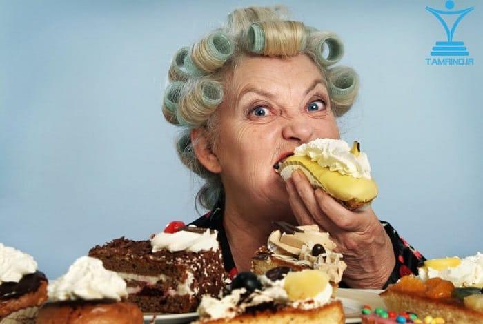 خوردن، شکر، خنده دار، گرسنه، tamrino.ir