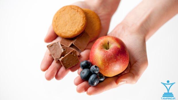 انتخاب غذا میوه و شکر