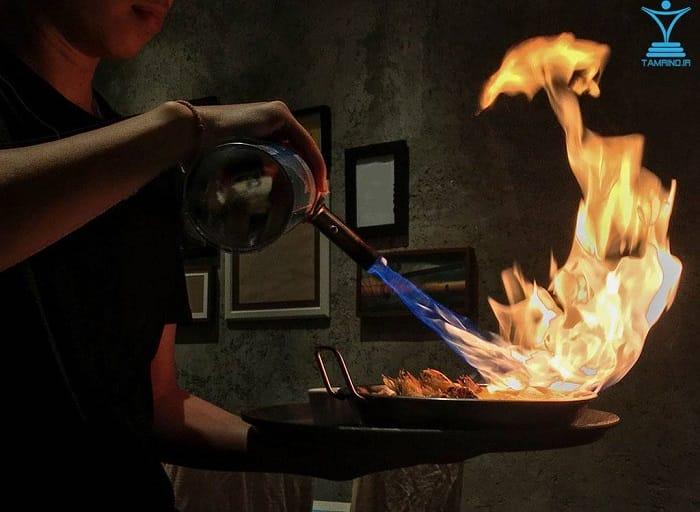 آتش بر کالری و غذا