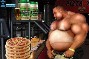 شکم بزرگ بدنسازها