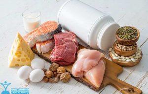 مصرف زیادی پروتئین