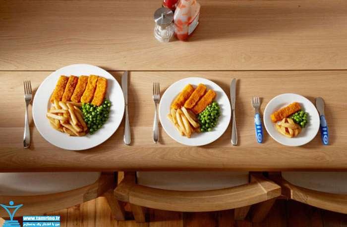 کمتر غذا خوردن